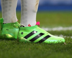 BREMEN, GERMANY - DECEMBER 03:  The shoes of Mesut Oezil of Bremen seen before the UEFA Europa League Group L match between Werder Bremen and CD Nacional at Weser stadium on December 3, 2009 in Bremen, Germany.  (Photo by Martin Rose/Bongarts/Getty Images)